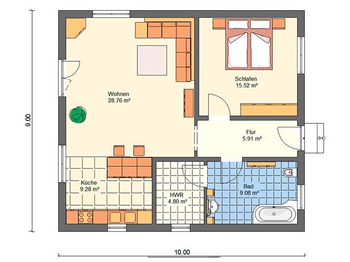 Massivhaus B72